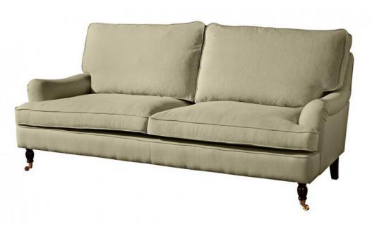 Couch Sofa Textilsofa Polstersofa 3 sitzig Klavierfüße weich bequem Textilsessel - Vorschau 5