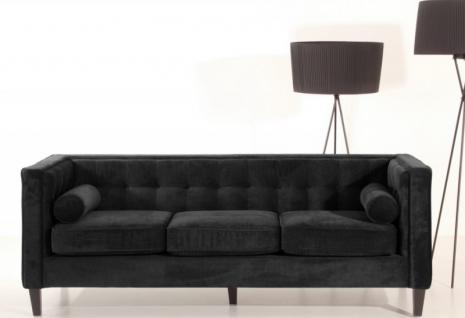 Sofa Couch Polstersofa burgund grau mocca schwarz Samtvelours samtig modern