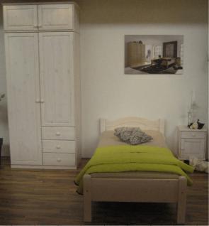 Jugendzimmer Bett Schrank Nachtkommode Kiefer massiv