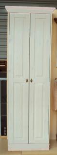 Garderobenschrank Dielenschrank Kleiderschrank 2-trg. Landhausstil Kiefer massiv - Vorschau 2