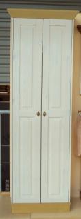 Garderobenschrank Dielenschrank Kleiderschrank 2-trg. Landhausstil Kiefer massiv - Vorschau 1