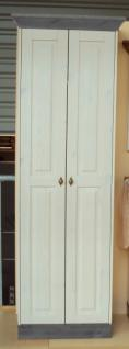 Garderobenschrank Dielenschrank Kleiderschrank 2-trg. Landhausstil Kiefer massiv - Vorschau 4