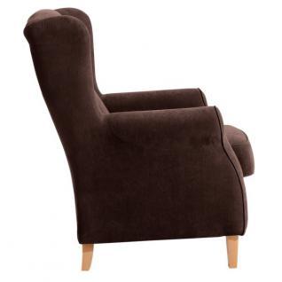 Ohrensessel Sessel Ohrenbackensessel Polyester weich bequem Trendfarben - Vorschau 4