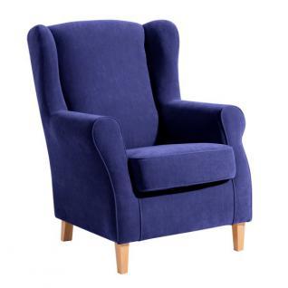 Ohrensessel Sessel Ohrenbackensessel Polyester weich bequem Trendfarben - Vorschau 5