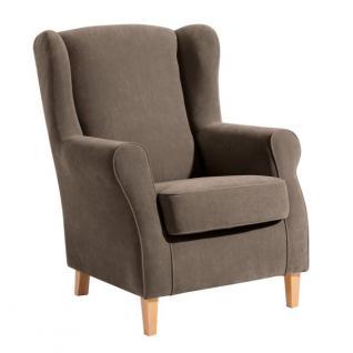 Ohrensessel Sessel Ohrenbackensessel Polyester weich bequem Trendfarben - Vorschau 1