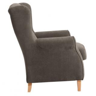 Ohrensessel Sessel Ohrenbackensessel Polyester weich bequem Trendfarben - Vorschau 2
