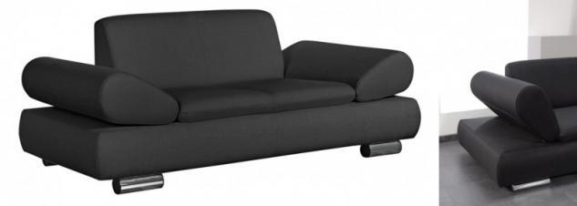 Sofa Couch 2-sitzig modern verstellbare Arme bequem Funktionssofa - Vorschau 3