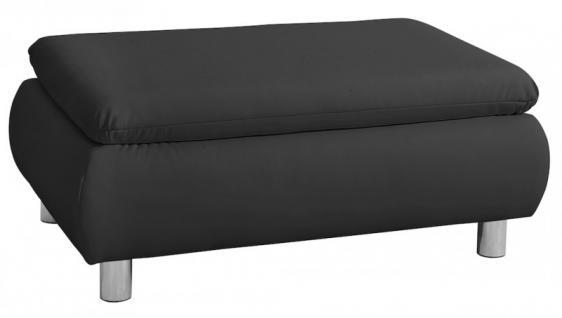 Hocker Fußhocker Fußablage Polsterhocker Kunstleder schwarz braun weiß - Vorschau 1