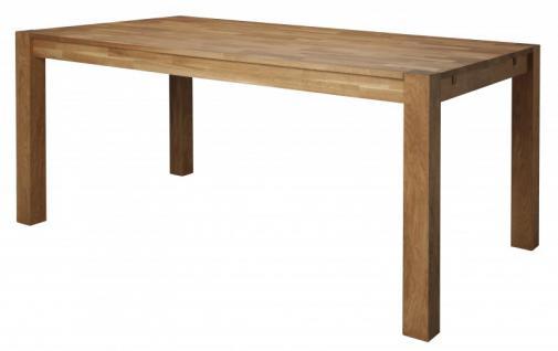 Esstisch Tisch Esszimmertisch aus massiver Eiche geölt Topplatte ca. 20 mm stark - Vorschau