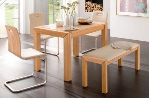 Essgruppe Essbankgruppe Küche Bank Stühle Tisch Kernbuche massiv geölt - Vorschau 1