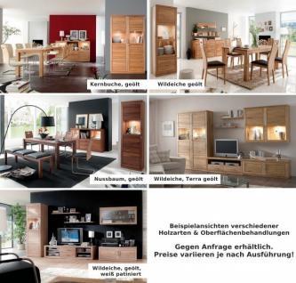 Wohnwand Wohnzimmerwand TV Vitrinen Wohnzimmerset Kernbuche massiv geölt - Vorschau 4