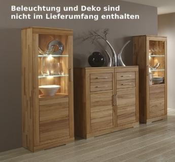 Esszimmer Wohnzimmer Tischgruppe Eckbank Vitrine Kernbuche massiv geölt - Vorschau 4