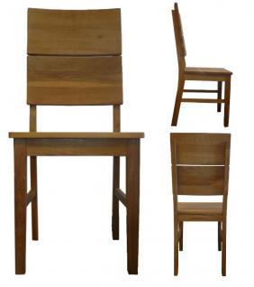 kleine Tischgruppe Tisch + 2 Stühle Eiche massiv geölt Massivholz 80 x 80 cm - Vorschau 2