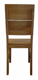 kleine Tischgruppe Tisch + 2 Stühle Eiche massiv geölt Massivholz 80 x 80 cm - Vorschau 5