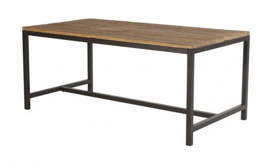 Esstisch Tisch Ulme Altholz Stahlgestell stark strukturiert gewachst Vintage