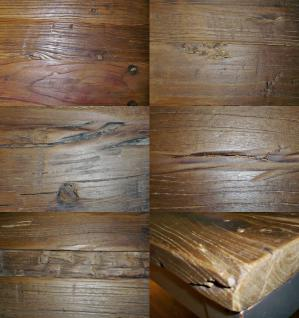 Couchtisch Ulme Altholz Stahlgestell strukturiert gewachst 120x60cm Used Look - Vorschau 2