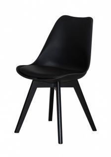 Stuhl Set 2er Stühle mit Sitzschale Kunstleder schwarz nordisch skandinavisch - Vorschau