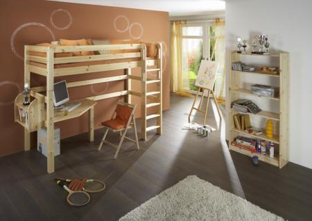 hochbett etagenbett mit schreibtisch dolphin fantasy kiefer massiv kaufen bei saku system. Black Bedroom Furniture Sets. Home Design Ideas
