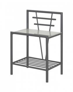 nachtkommode nako nachttisch beistelltisch metall schwarz wei silber kaufen bei saku system. Black Bedroom Furniture Sets. Home Design Ideas