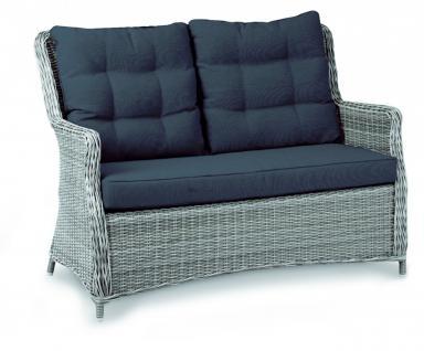 Couch Sofa Loungesofa Loungemöbel Lounge mit Polsterung Geflecht Rattanoptik