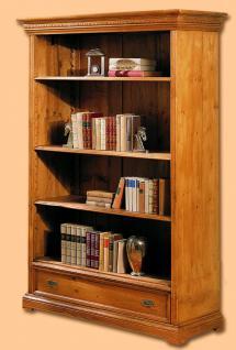 Bücherregal Bücherschrank Schrank Regal Wohnzimmer Fichte massiv antik Landhaus - Vorschau 1