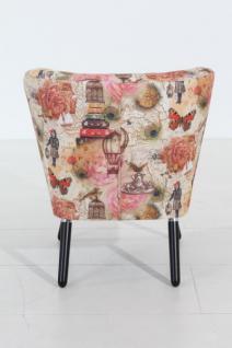 Stuhlsessel Sessel Stuhl Retro Retrostil rost Motiv Vintage Nostalgie - Vorschau 3