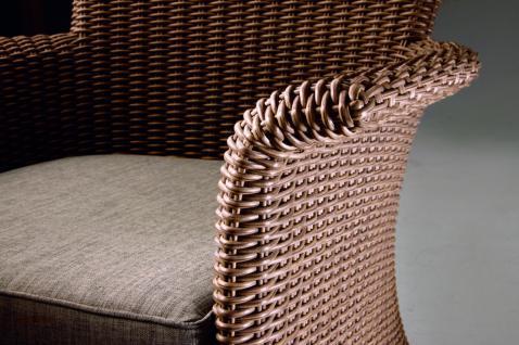 Sofa Couch 2 Sitzer Loungemöbel Loungesessel Lounge Gartensessel Geflecht - Vorschau 2