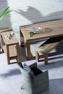 Tisch Gartentisch Terrasse Lounge Teak Teakholz Patina Old massiv grey wash - Vorschau 5