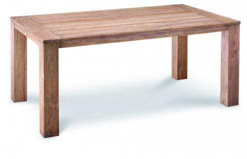 Tisch Gartentisch Terrasse Lounge Teak Teakholz Patina Old massiv grey wash - Vorschau 3