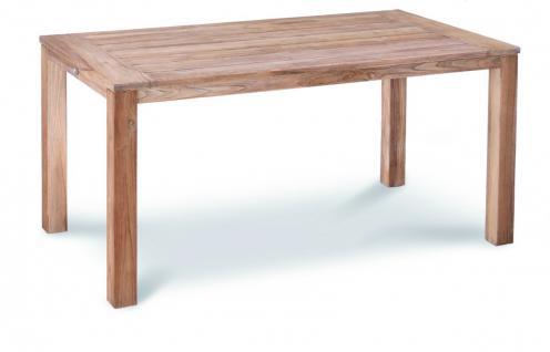 Tisch Gartentisch Terrasse Lounge Teak Teakholz Patina Old massiv grey wash