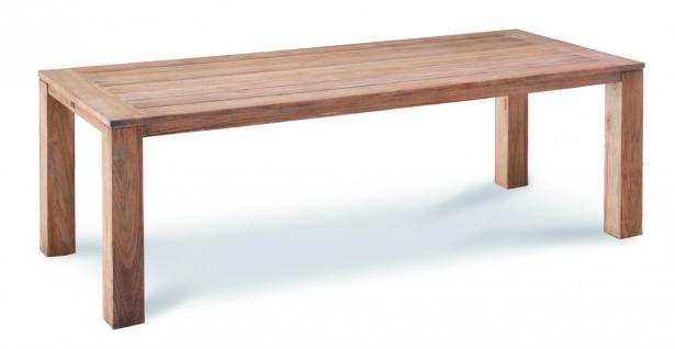Tisch Gartentisch Terrasse Lounge Teak Teakholz Patina Old massiv grey wash - Vorschau 2