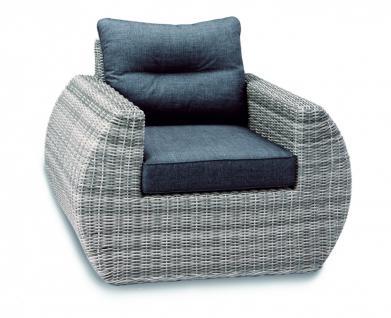 Lounge Sessel Loungemöbel Geflecht Polster witterungsbeständig erstklassig - Vorschau 1