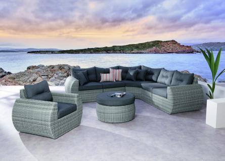 Lounge Sessel Loungemöbel Geflecht Polster witterungsbeständig erstklassig - Vorschau 2