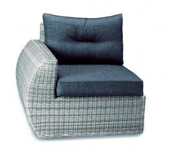 Loungeset Loungemöbel Lounge Set Geflecht Aluminium grau Eckcouch Sofa - Vorschau 3