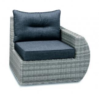 Loungeset Loungemöbel Lounge Set Geflecht Aluminium grau Eckcouch Sofa - Vorschau 2