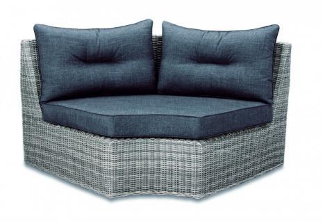 Loungeset Loungemöbel Lounge Set Geflecht Aluminium grau Eckcouch Sofa - Vorschau 4