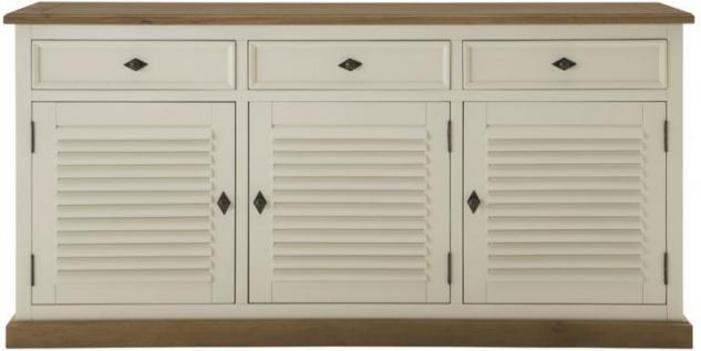 Sideboard Anrichte Pinie Wildeiche massiv geölt antik weiß amerikanisch vintage - Vorschau 1