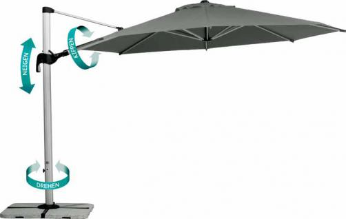 Sonnenschirm Ampelschirm Schirm Garten Windhaube wetterfest wasserabweisend