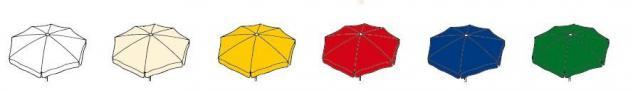Sonnenschirm quadratisch Schirm Garten Aluminium rot grün blau gelb weiß natur - Vorschau 2