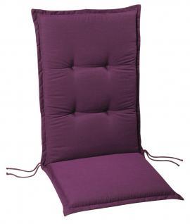 Polsterauflage Sesselauflage Hochlehner Auflage Gartenmöbelauflage farbig modern - Vorschau 5