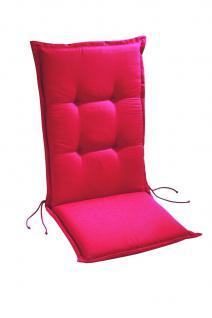 Polsterauflage Sesselauflage Hochlehner Auflage Gartenmöbelauflage farbig modern - Vorschau 2