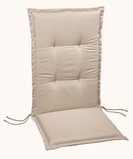 Polsterauflage Sesselauflage Hochlehner Auflage Gartenmöbelauflage farbig modern - Vorschau 4