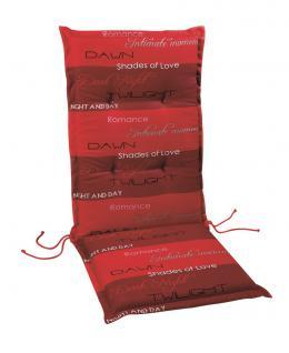 Polsterauflage Sesselauflage Hochlehner Auflage Gartenmöbelauflage farbig modern - Vorschau 1