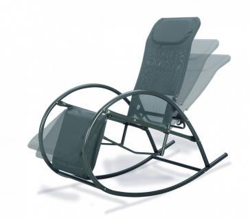 schaukelstuhl relax gartenliege kopfpolsterung relaxliege elegant anthrazit kaufen bei saku. Black Bedroom Furniture Sets. Home Design Ideas