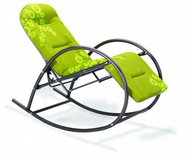 Schaukelstuhl Relax Gartenliege Kopfpolsterung Relaxliege Polster türkis grün - Vorschau 1
