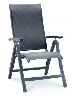 Klappsessel Klappstuhl Aluminium verstellbare hohe Rückenlehne taupe anthrazit