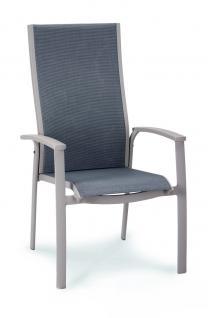 Stapelsessel Stapelstuhl Gartenstuhl Stuhl stapelbar Aluminium taupe anthrazit