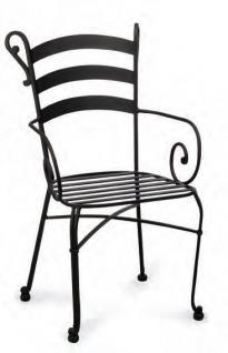 Gartenset Metall Set Stuhl Rundtisch Balkonset Terrasse Tischgruppe schwarz - Vorschau 3