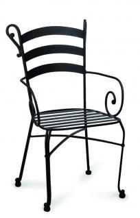 Gartenset Metall Set Stuhl Rundtisch Balkonset Terrasse Tischgruppe schwarz - Vorschau 5