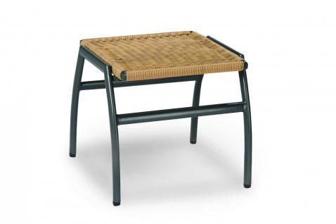 hocker fu ablage fu hocker ablage aluminium kunstfasergeflecht wetterfest kaufen bei saku. Black Bedroom Furniture Sets. Home Design Ideas